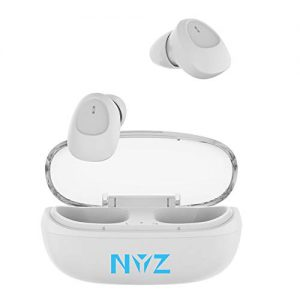 Wireless Earbuds, NYZ True Wireless Bluetooth Headphones in-Ear Earphones HiFi Stereo Volume Control Cordless Earbuds with Microphone Portable Charging Case for iPhone,Android,Windows (Space Series)