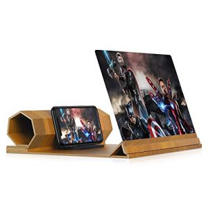 12\ Screen Magnifier for Smartphone - Mobile Phone 3D Magnifier Projector Screen for Movies, Videos, and Gaming - Foldable Phone Stand with Screen Amplifier - Compatible with All Smartphones