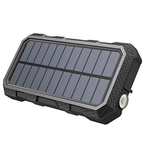 Hiluckey Solar Charger 26800mAh Power Bank PD 18W Portable Charger with USB C Port External Battery with LED Flashlight for Smartphones, Tablets, Laptops and More